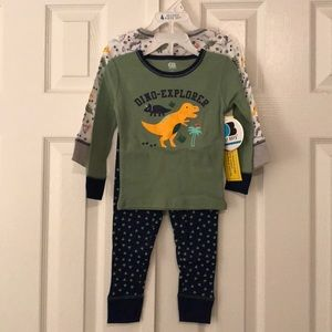 4 piece pajama set - boys - dinosaurs 2T